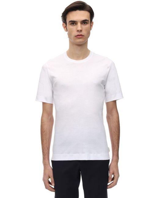 メンズ Z Zegna インターロックジャージーtシャツ White