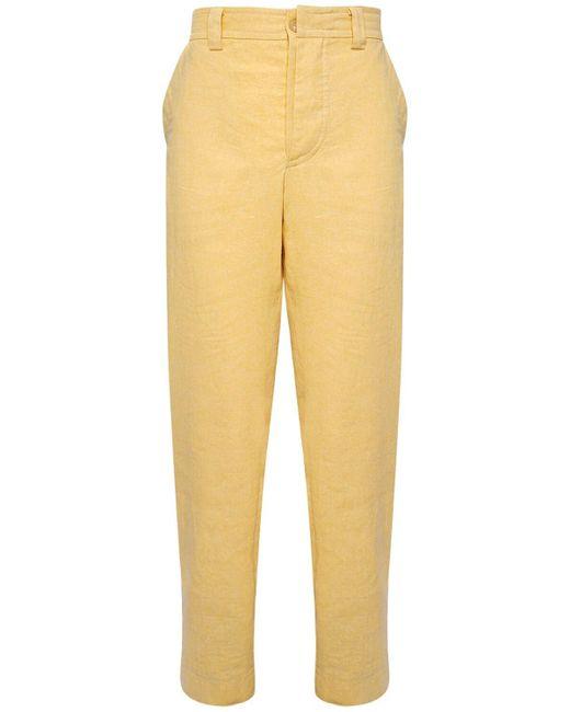 メンズ Jacquemus Le Pantalon De Costume リネンブレンドパンツ Yellow
