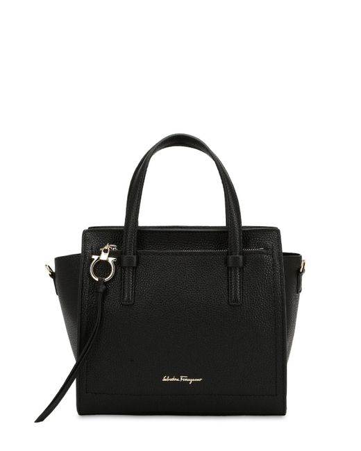 Ferragamo - Black Small Amy Leather Top Handle Bag - Lyst