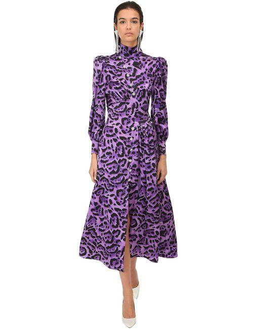 Alessandra Rich シルクサテンドレス Purple