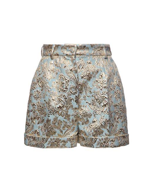 Dolce & Gabbana ジャカードラメショートパンツ Blue