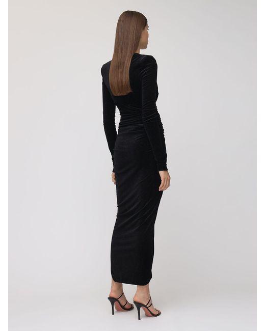 Alexandre Vauthier ストレッチベルベットドレス Black