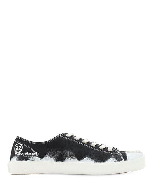 Кроссовки Из Канвы Tabi Maison Margiela для него, цвет: Black