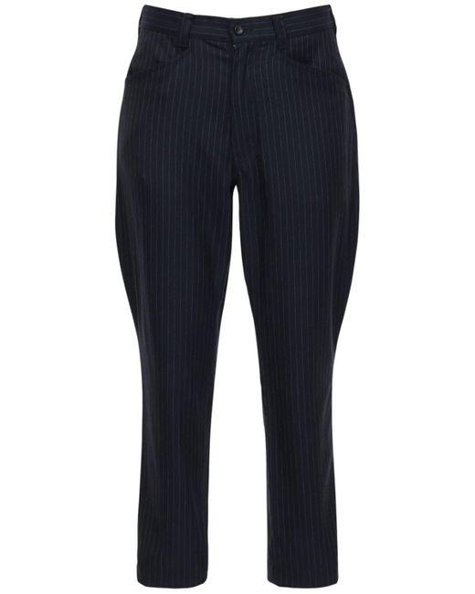 メンズ Comme des Garçons ウール&モヘアパンツ Blue