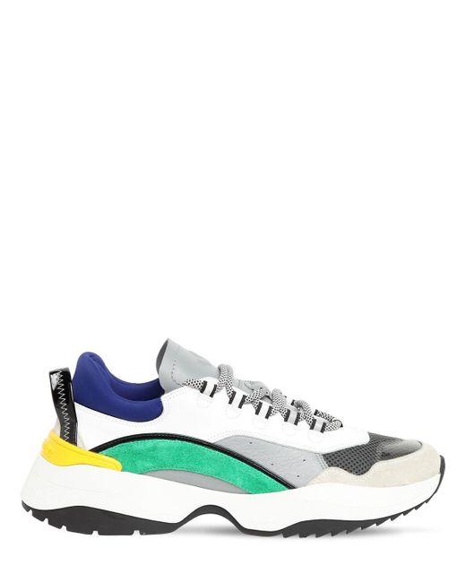 Кроссовки Из Сетки Меш И Неопрена DSquared² для него, цвет: Multicolor