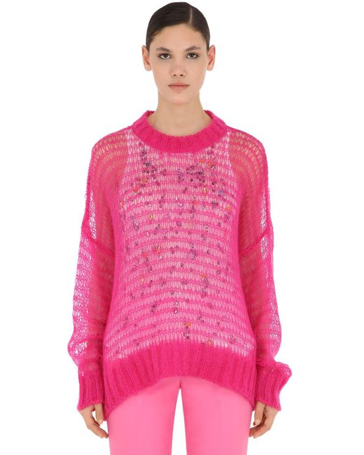 N°21 ウール混ニットセーター&タンクトップ Pink