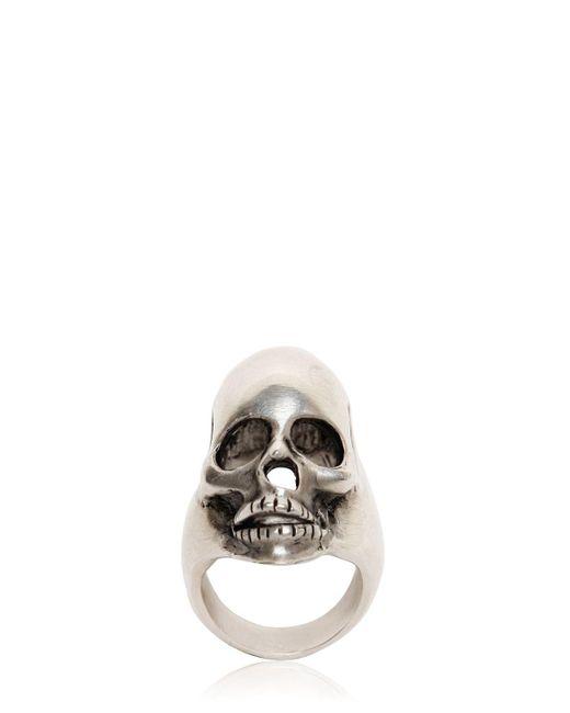 Saint Laurent | Metallic Skull Ring for Men | Lyst