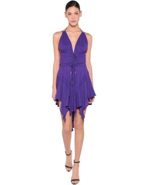 DSquared² ライトビスコースクレープドレス Purple