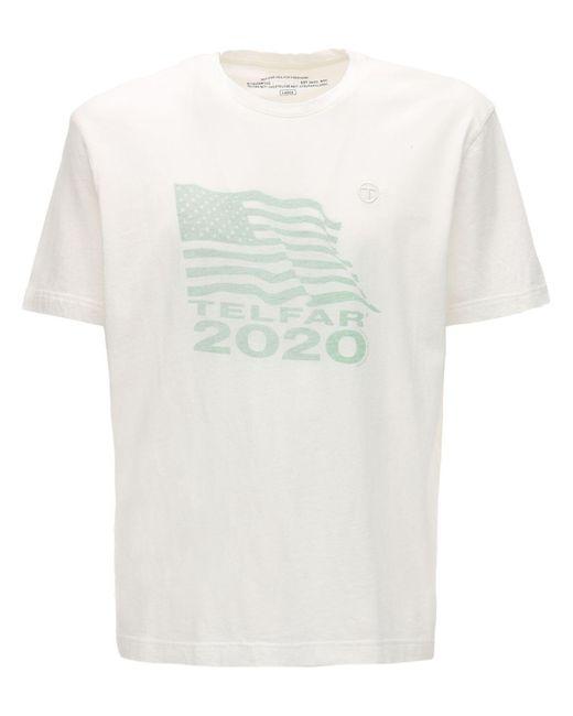 メンズ Telfar 2020 コットンジャージーtシャツ White