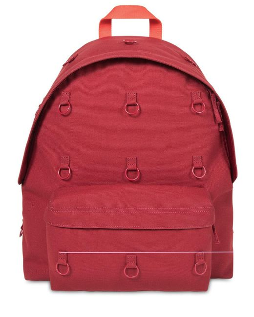 Raf Simons Red Rs Padded Loop Backpack