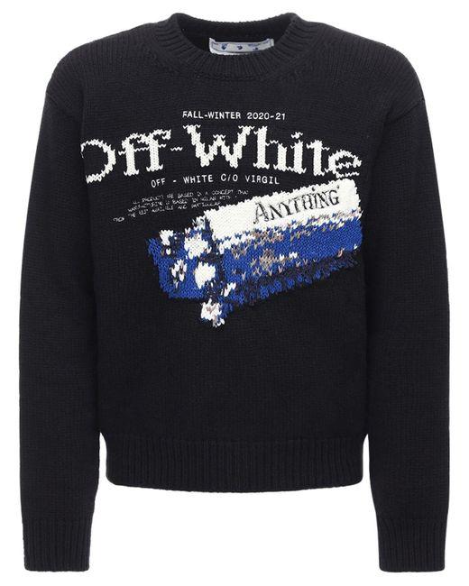 """Off-White c/o Virgil Abloh Pullover Aus Wollmischung """"medicine"""" in Black für Herren"""