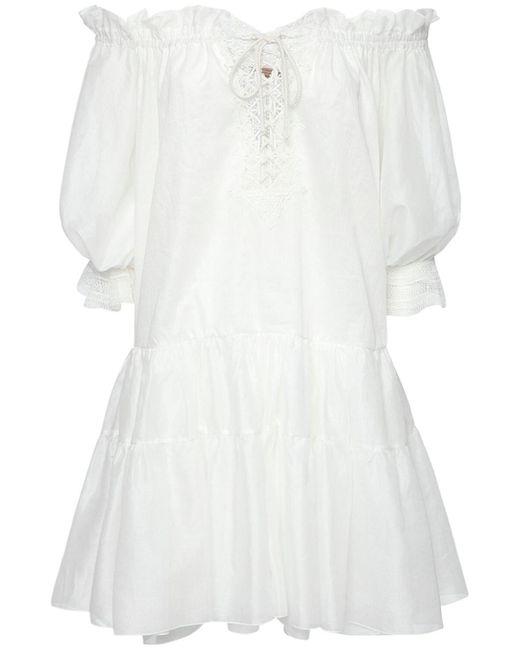 Ermanno Scervino コットンカフタンミニドレス White