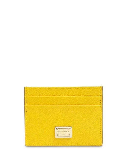 Dolce & Gabbana グレインレザーカードホルダー Yellow
