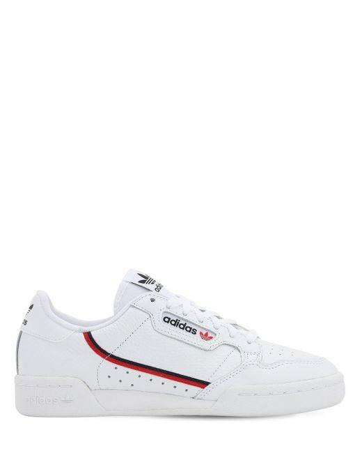 メンズ Adidas Originals Continental 80 Vegan スニーカー White
