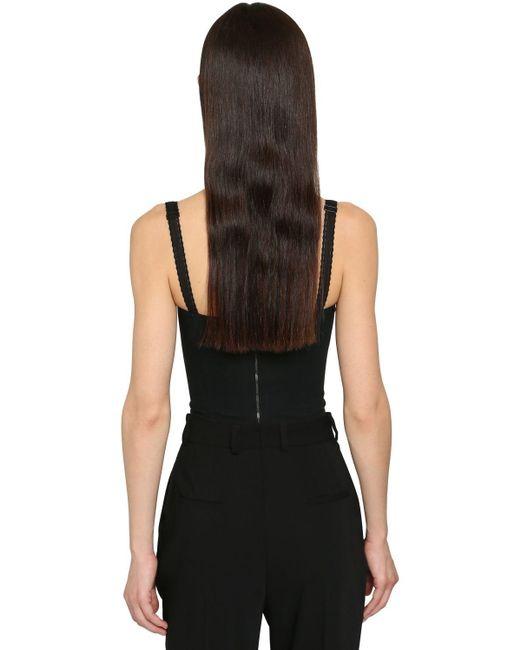 Dolce & Gabbana Marquisette サテンクロップビスチェ Black