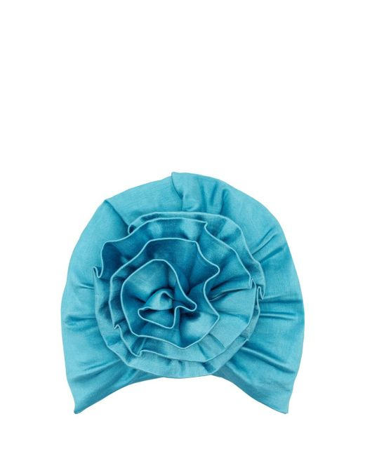 "MaryJane Claverol Blue Turban Mit Satin-effekt ""jalisco"""
