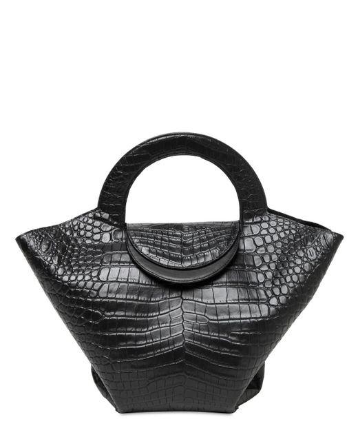 Сумка Из Кожи С Крокодиловым Тиснением Bottega Veneta, цвет: Black