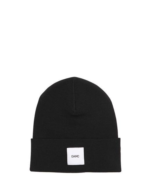 OAMC   Black Logo Patch Wool Beanie Hat for Men   Lyst