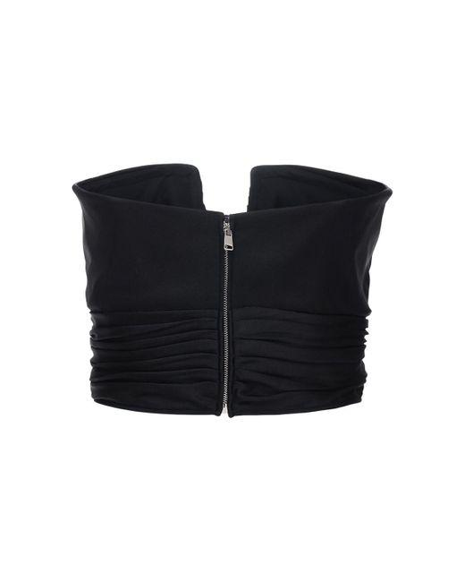 Топ Из Шелка Alexander McQueen, цвет: Black