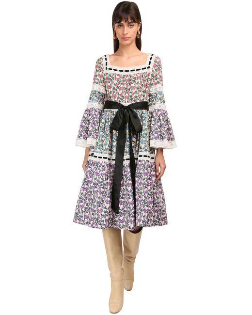 Marc Jacobs コットンポプリン&レースドレス Multicolor
