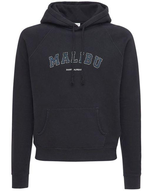 メンズ Saint Laurent ブラック Malibu フーディ Black