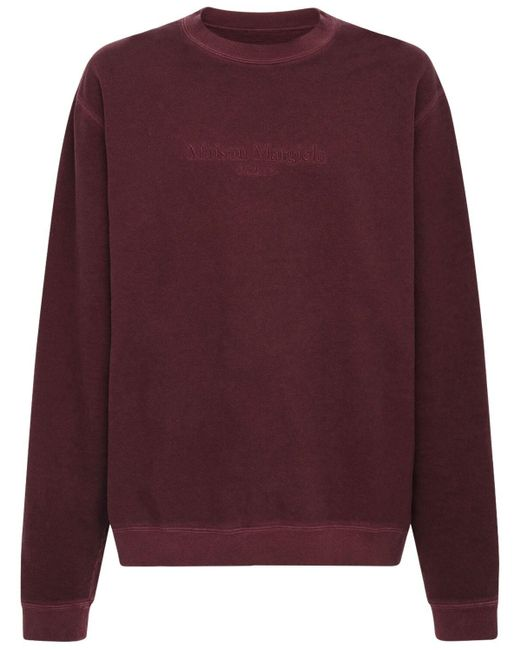 メンズ Maison Margiela コットンスウェットシャツ Purple