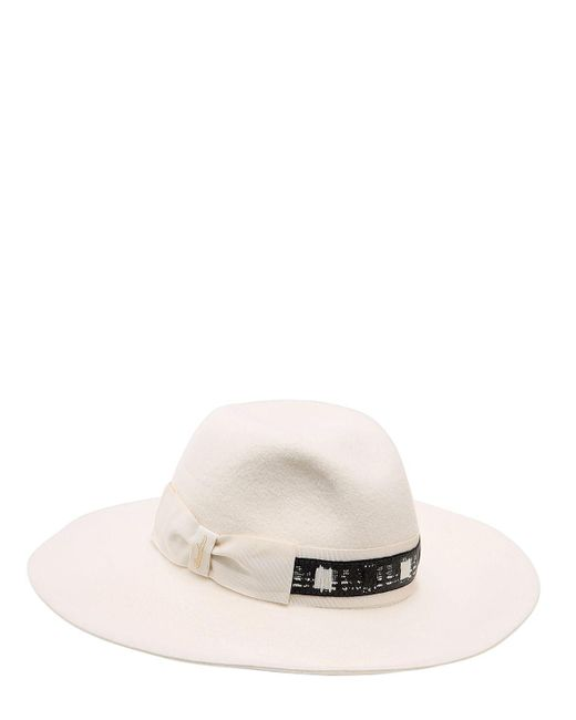 Borsalino | White Sophie Velour Wide Brimmed Hat | Lyst