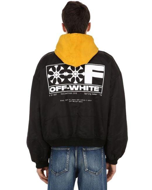 メンズ Off-White c/o Virgil Abloh ナイロンボンバージャケット Black