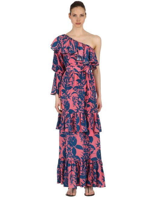 Borgo De Nor Marquesa シルククレープドレス Multicolor