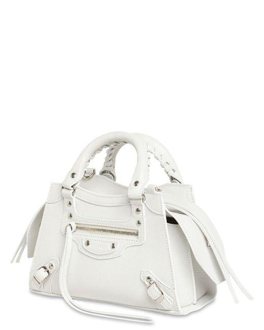Balenciaga Mini Neo Classic City レザーバッグ White