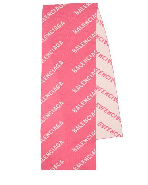 Шерстяной Шарф Balenciaga, цвет: Pink