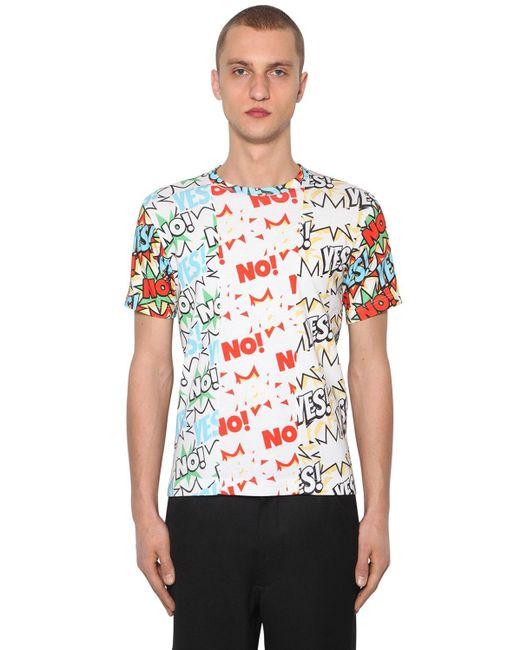 メンズ Comme des Garçons コットンジャージー Tシャツ Multicolor