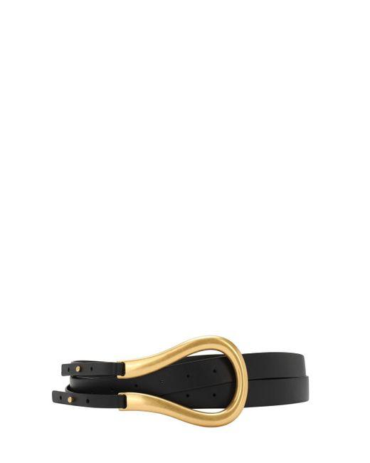 Кожаный Ремень 7cm Bottega Veneta, цвет: Black