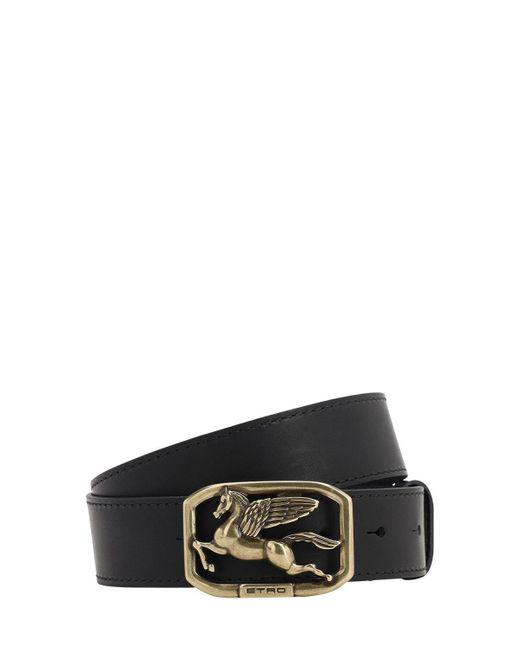 Кожаный Ремень Dioniso 35mm Etro, цвет: Black