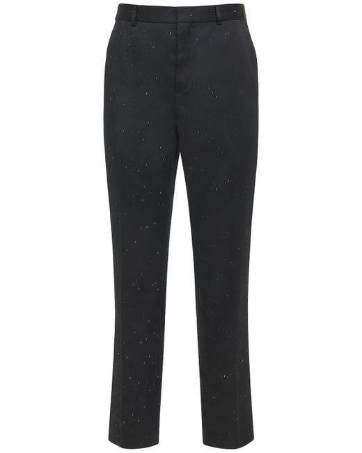 メンズ Saint Laurent Flame テック&シルクパンツ Black
