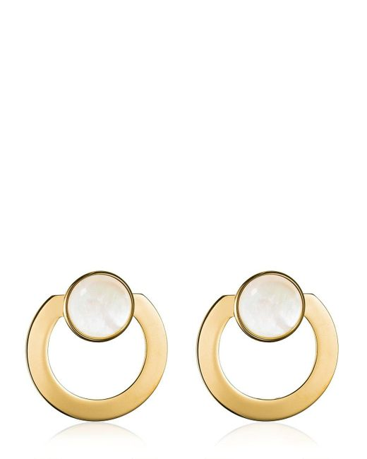 Vita Fede - Metallic Moneta Open Mother Of Pearl Earrings - Lyst