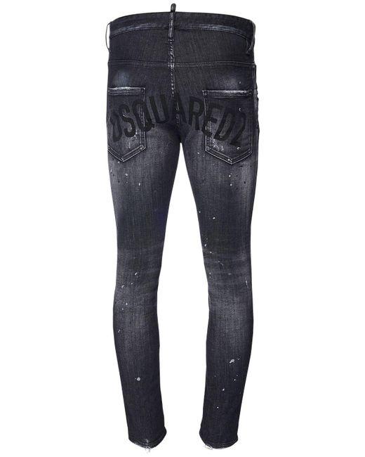 Джинсы Стрейч Super Twinky 14см DSquared² для него, цвет: Black