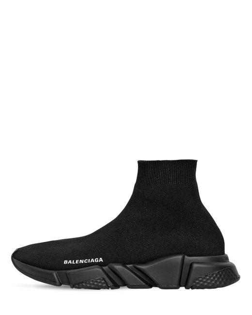 メンズ Balenciaga Speed ニットスポーツスニーカー Black