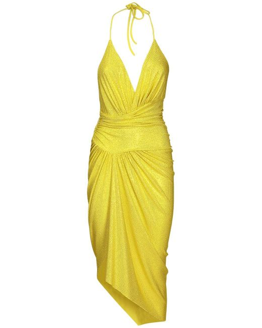 Alexandre Vauthier Vネックドレス Yellow