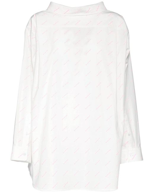 Balenciaga コットンポプリンシャツ White