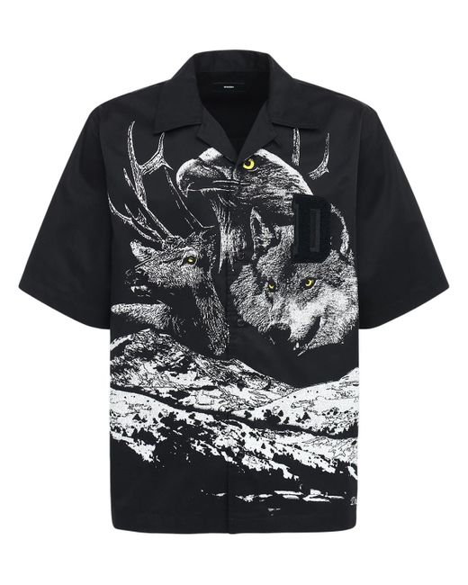 メンズ DIESEL Loose コットンシャツ Black