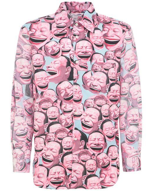 メンズ Comme des Garçons Yue Minjun コットンポプリンシャツ Pink