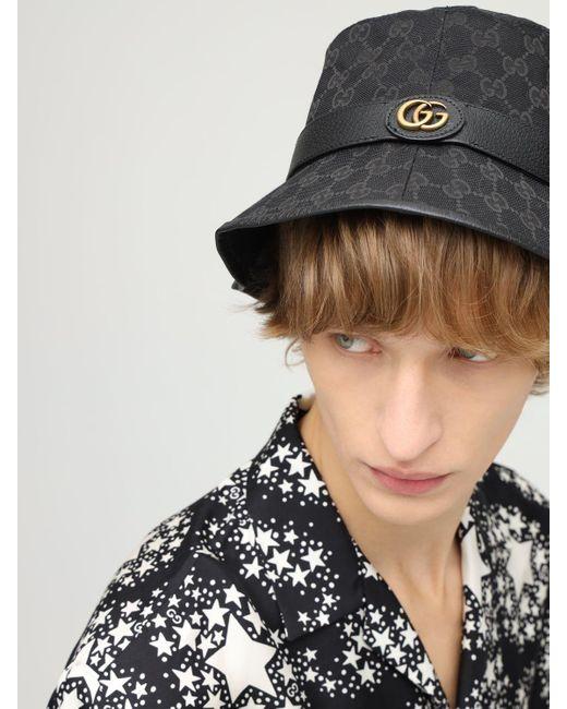 Парусиновая Панама С Узором GG Supreme Gucci для него, цвет: Black