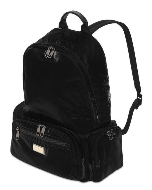 Нейлоновый Рюкзак С Логотипом Dolce & Gabbana для него, цвет: Black