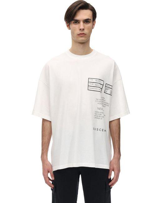 メンズ Buscemi オーバーサイズジャージーtシャツ White