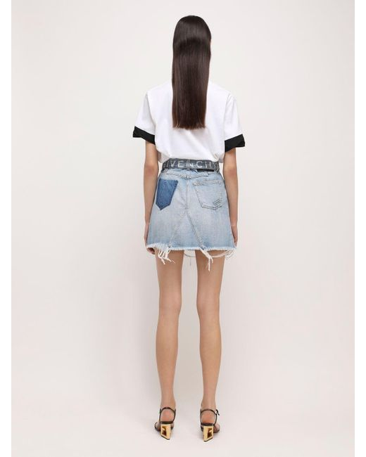 Givenchy コットンデニムミニスカート Blue