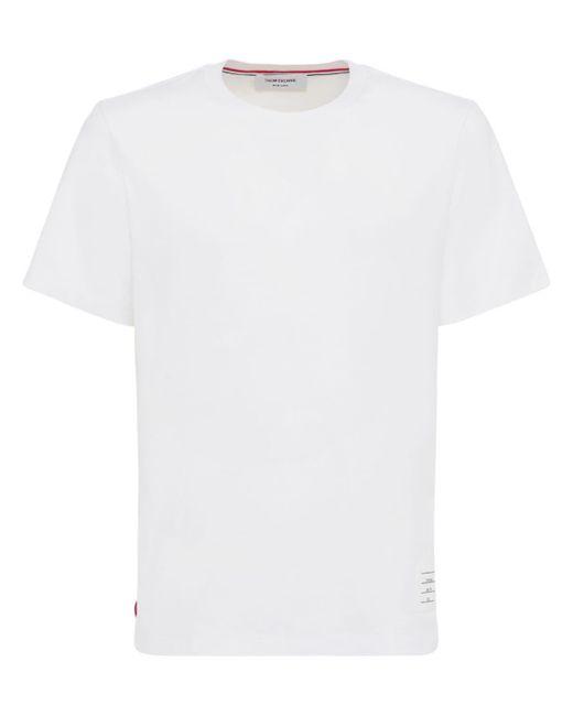 メンズ Thom Browne コットンジャージーtシャツ リラックスフィット White