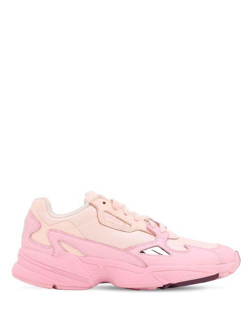 Adidas Originals Falcon W メッシュ&レザースニーカー Pink