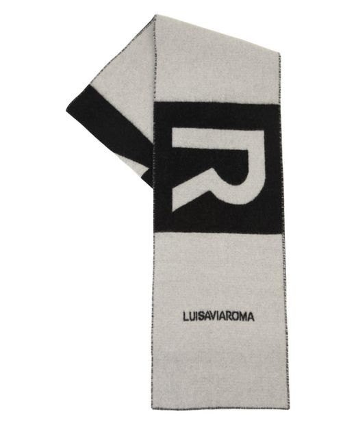 LUISAVIAROMA Lvr ロゴ カシミアマフラー Black