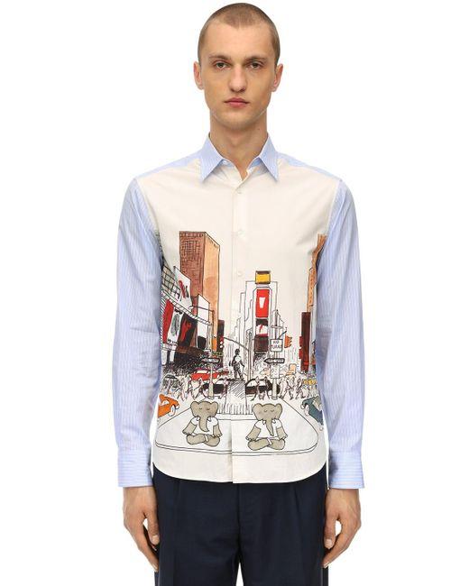 メンズ Lanvin Babar コットンシャツ Multicolor